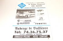 Rallye Regional AIN-BUGEY Coupe de France Des Rallyes 1996 July 20-21